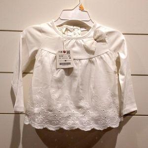NWT Zara baby white shirt